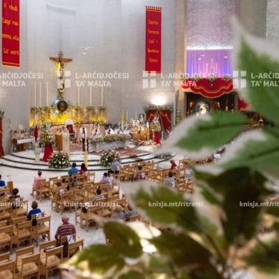 Quddiesa fil-festa ta' Santa Tereża tal-Bambin Ġesù, fil-knisja ta' Santa Tereża, Birkirkara – 01/10/20