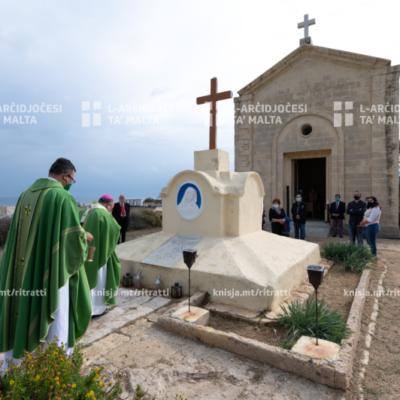 L‑Arċisqof iċċelebra quddiesa fil‑kappella ta' Wied Għammieq, il‑Kalkara – 15/11/20