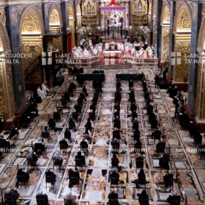 Quddiesa ta' radd il‑ħajr lil Alla fl‑okkażjoni tal‑ħatra bħala kardinal tal‑Eminenza Tiegħu Mons. Mario Grech – 09/12/20