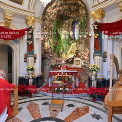 Quddiesa f'għeluq il‑100 sena mill‑bini tal‑kappella tal‑Madonna ta' Lourdes, il‑Furjana – 26/12/20