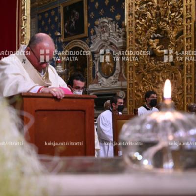L‑ewwel għasar solenni tal‑Milied u l‑Quddiesa tal‑Vġili – 24/12/20