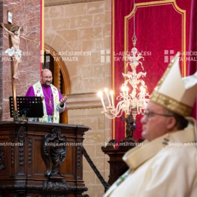 Quddiesa pontifikali fil‑festa tal‑Konverżjoni ta' Missierna San Pawl, fil‑Katidral tal‑Imdina – 24/01/21