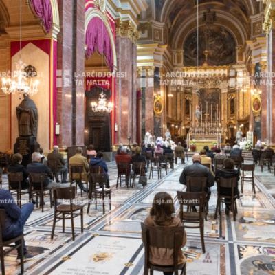 Traslazzjoni, talb tal-ewwel għasar u quddiesa f'lejlet il-festa tal-Konverżjoni ta' Missierna San Pawl, fil-Katidral tal-Imdina – 23/01/21