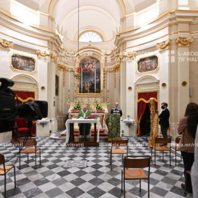 Quddiesa fil-ħames Ħadd taż-zmien ta' matul is-sena fil-Knisja ta' San Bartilmew Appostlu u l-Madonna tal-Bon Kunsill, Ħal Tarxien – 07/02/21